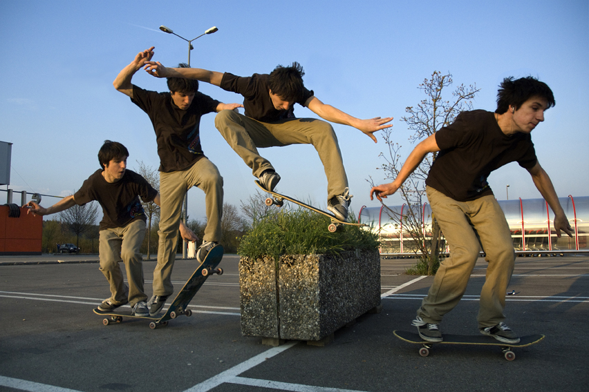 the physics of skateboarding essay In the end, the ride's the thing the science and art of skateboard design (continued) vitello stressed that the most important thing in making trucks, over and.